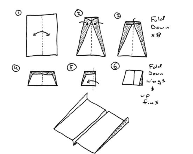 paper airplane folding instructions printable