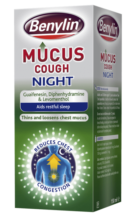 benylin mucus and phlegm with cold instructions
