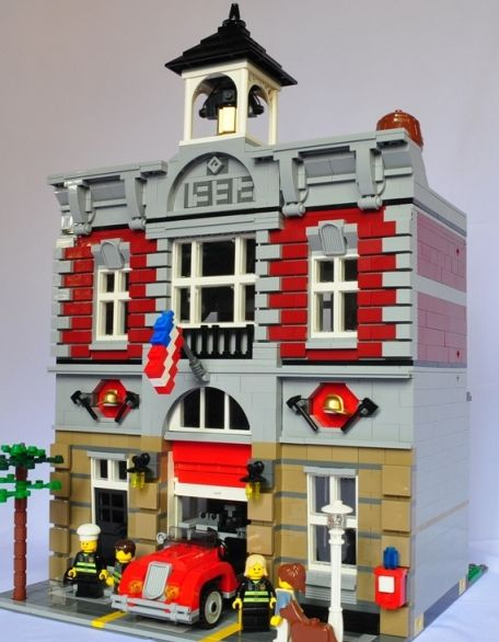 lego brick instructions fire station