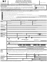 instructions for application for irs individual taxpayer identification number