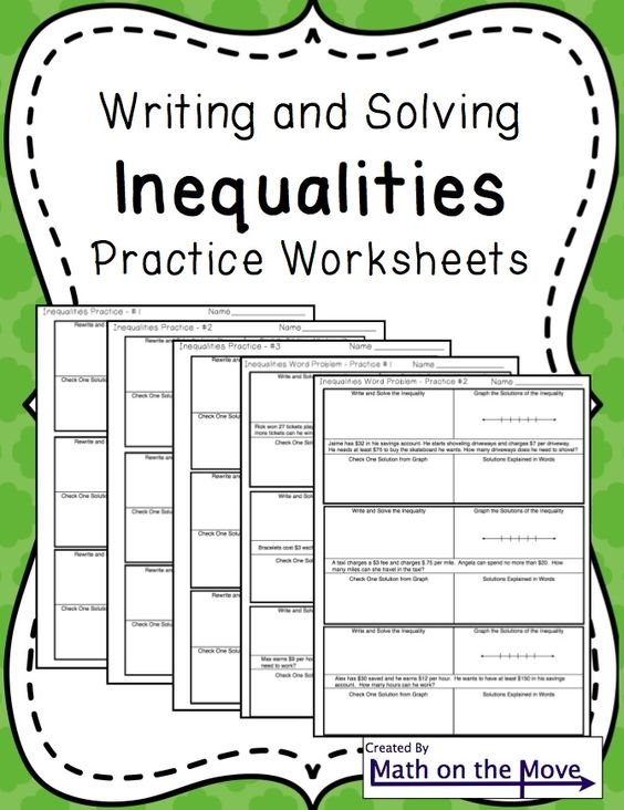 inequality word problems instructions