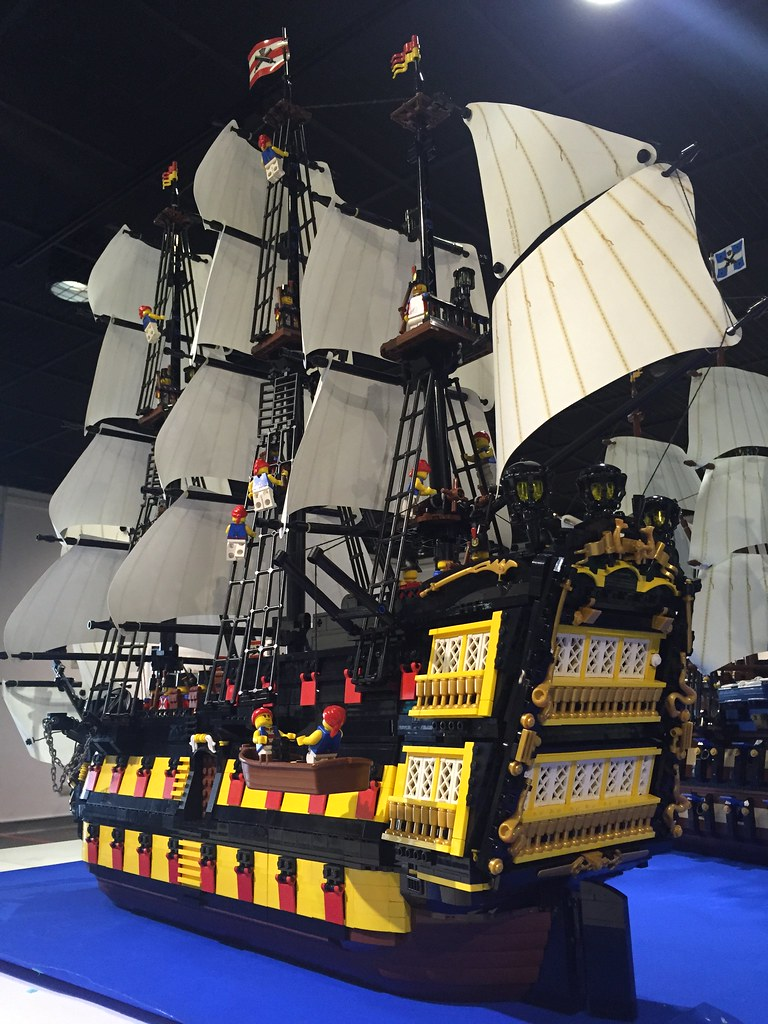 lego moc pirate ship instructions