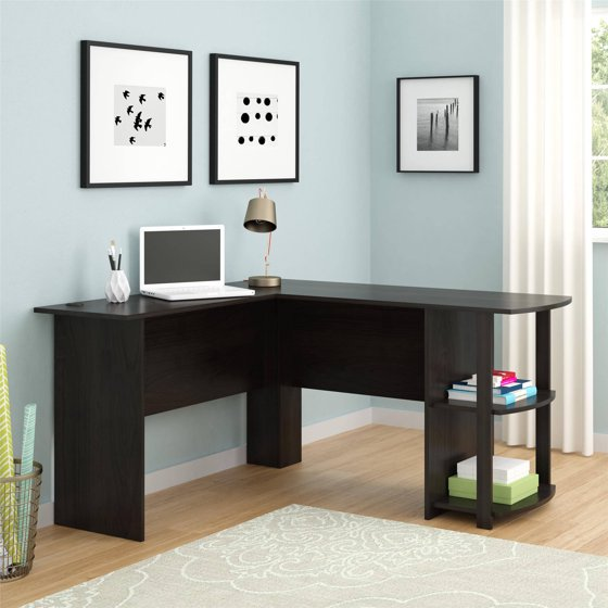 l shaped desk with side storage multiple finishes instructions