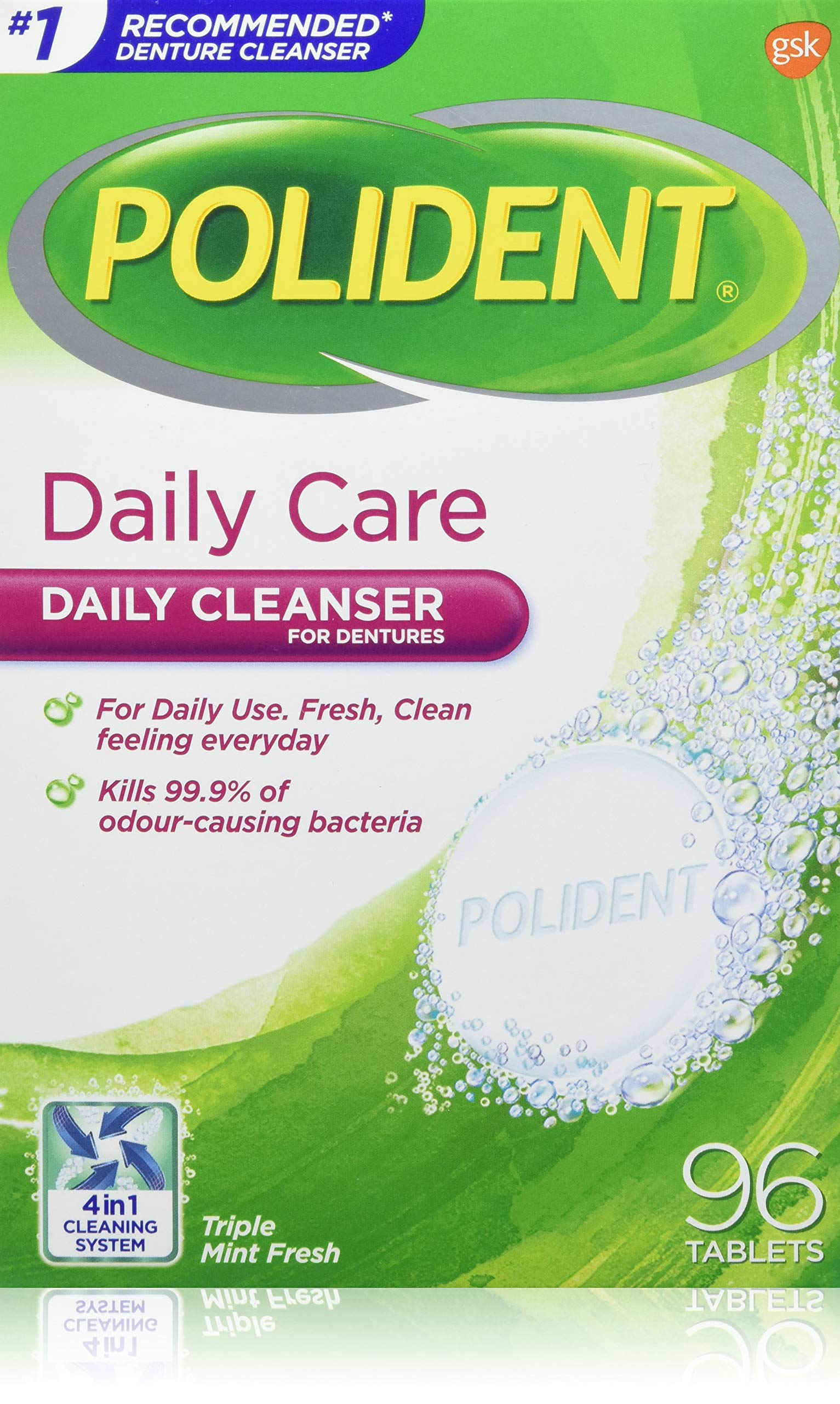 polident daily care instructions