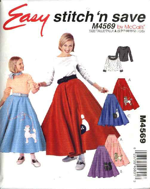 felt poodle skirt instructions