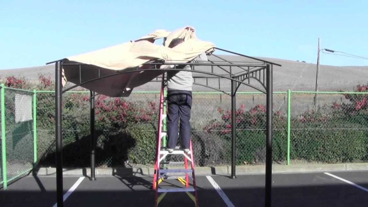 canvas havana gazebo canopy install instructions