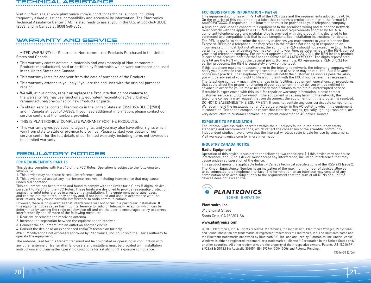 plantronics ca10 instruction manual
