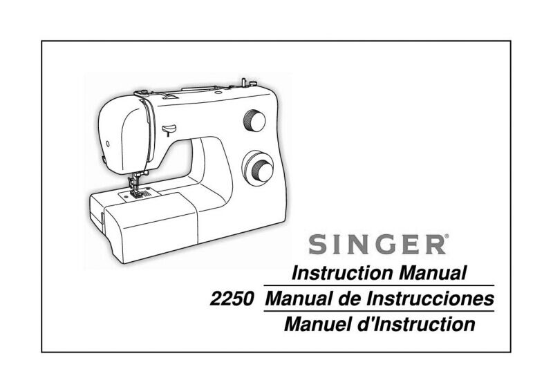 singer sewing machine 4166 instruction manual