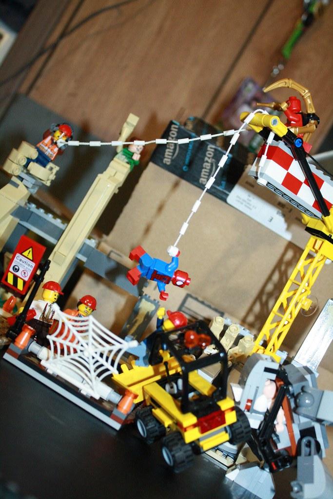lego spiderman rhino instructions