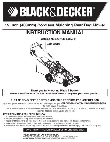 black and decker b2000 instruction
