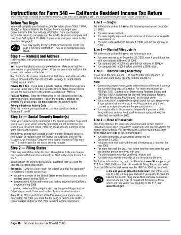2013 form 540 instructions