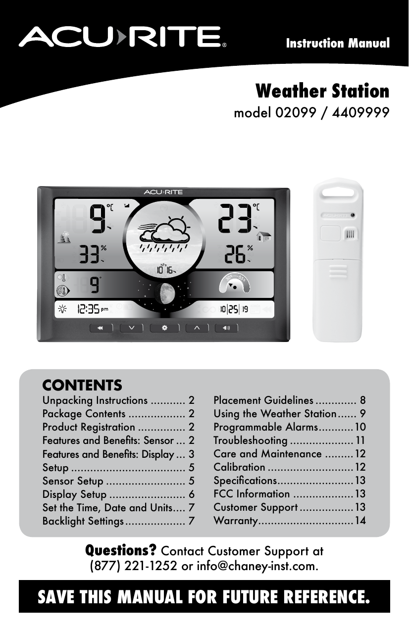 acurite weather station canada instructions