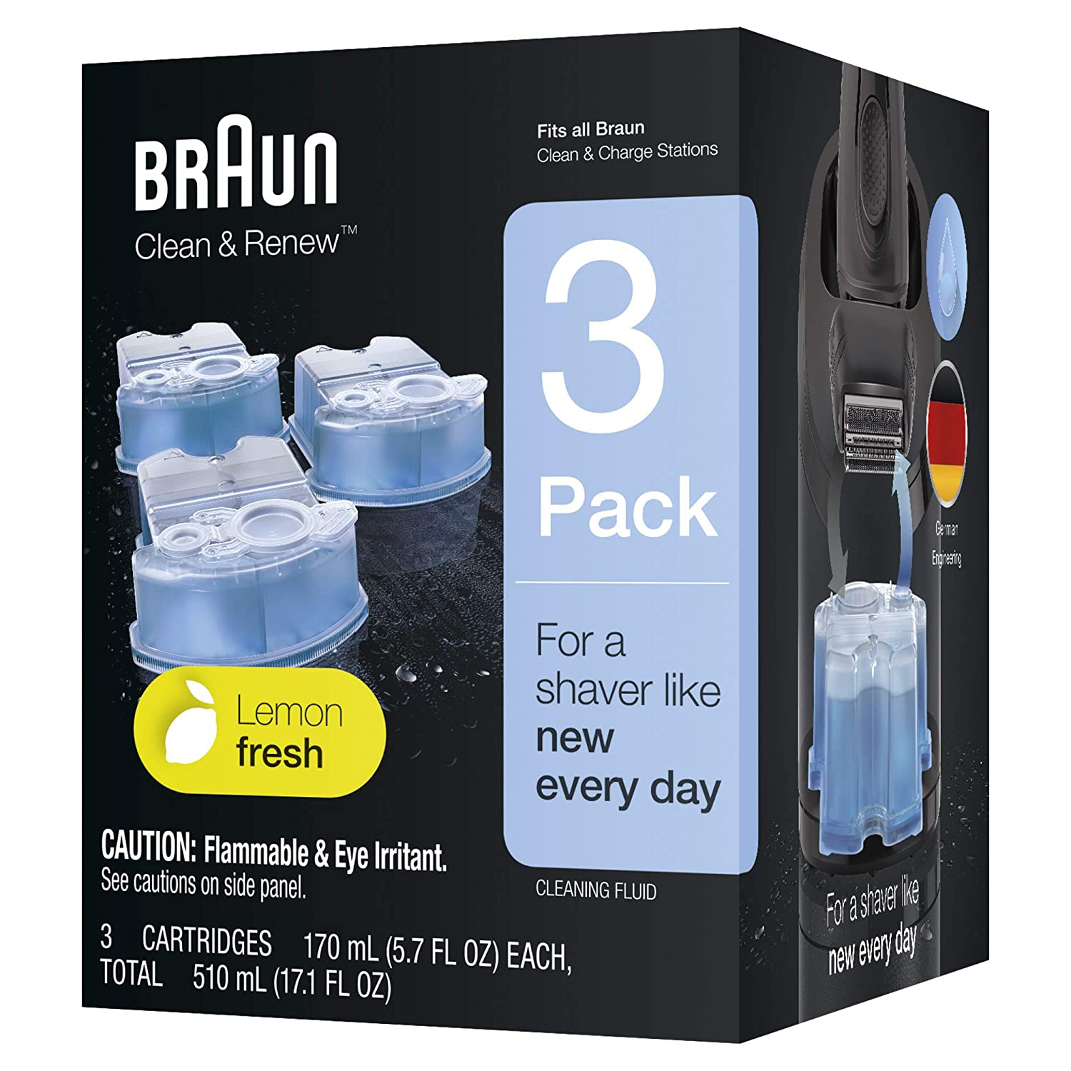 braun clean and charge instructions