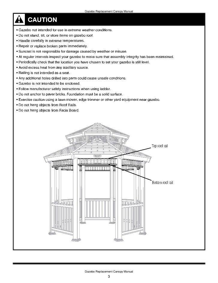 gazebo assembly instructions 4 post octogon