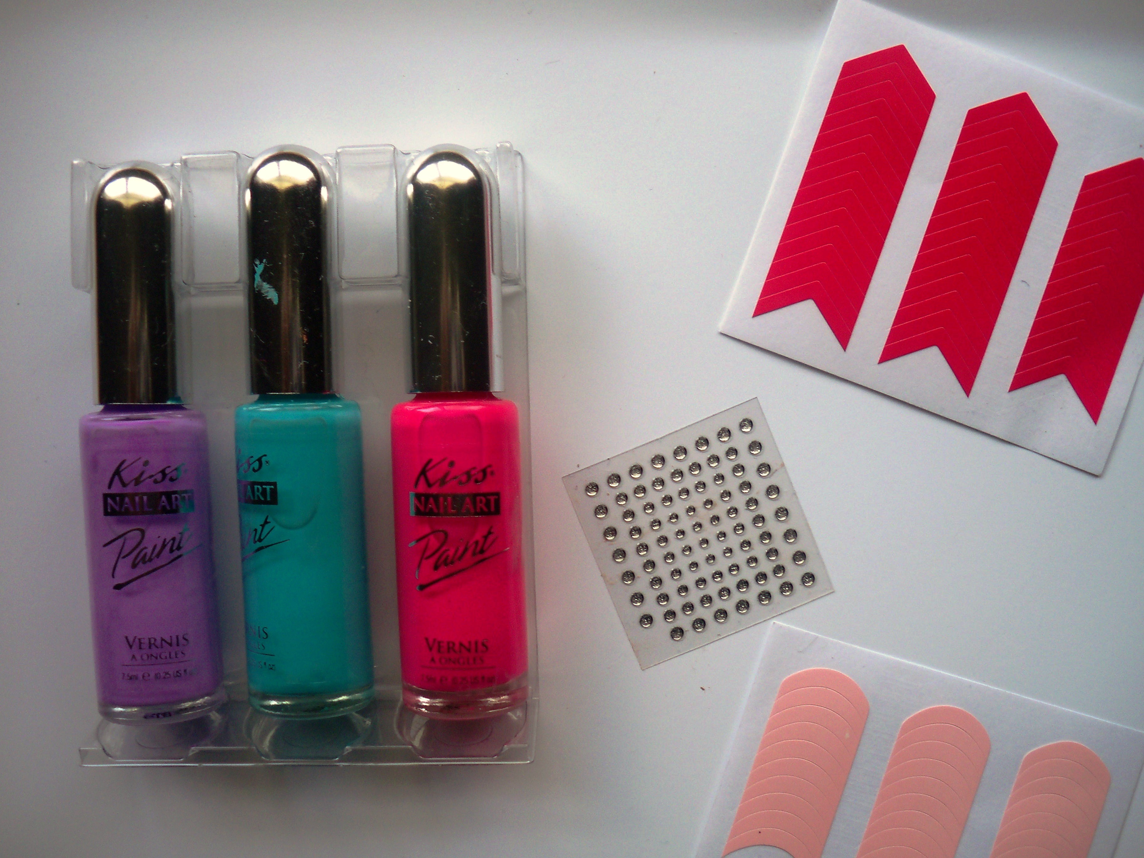 kiss nail artist paint and stencil kit instructions