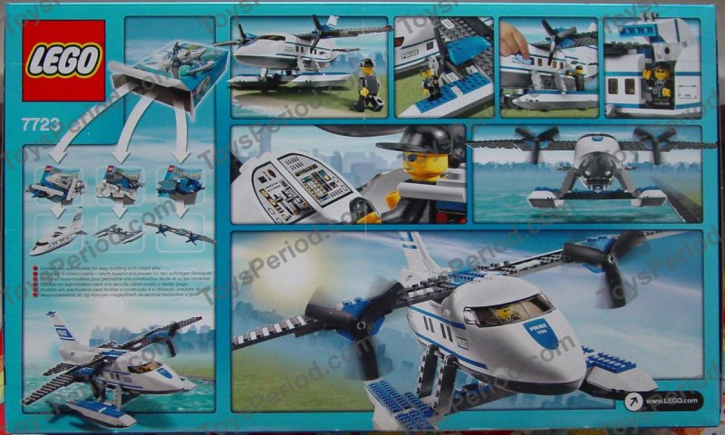 police airplane lego instructions