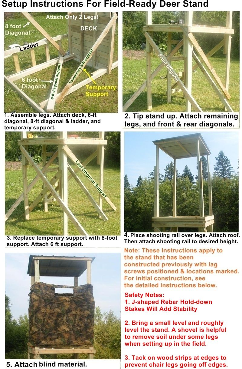 strong built ladder stand instructions