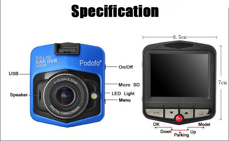 advanced portable car camcorder fhd 1080p instructions