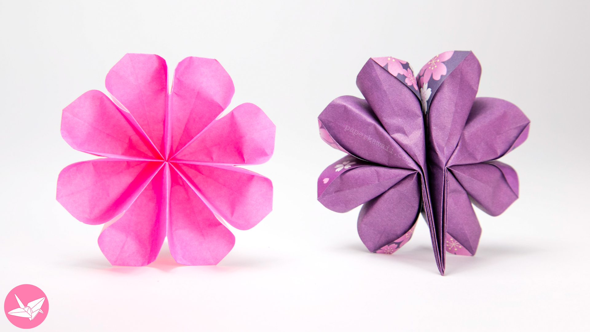 easy origami flower printable instructions