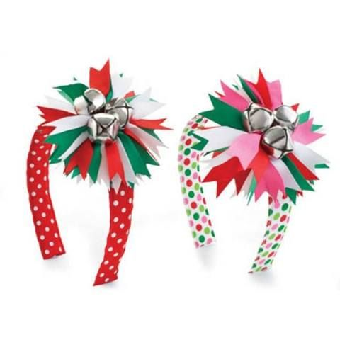 christmas craft instructions jingle bell hair clips