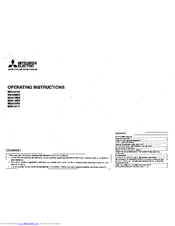 mitsubishi air conditioner operating instructions mr slim