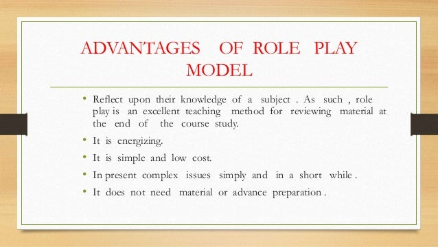 role-play instructional method