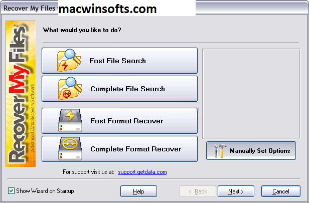 recover my files download instructions key
