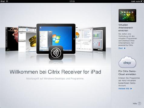 citrix receiver instructions for ipad