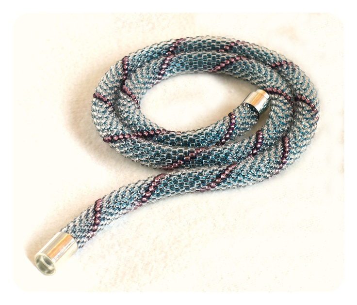 crochet bead rope necklace instructions