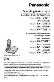 panasonic phone kx-tgd393c operating instructions