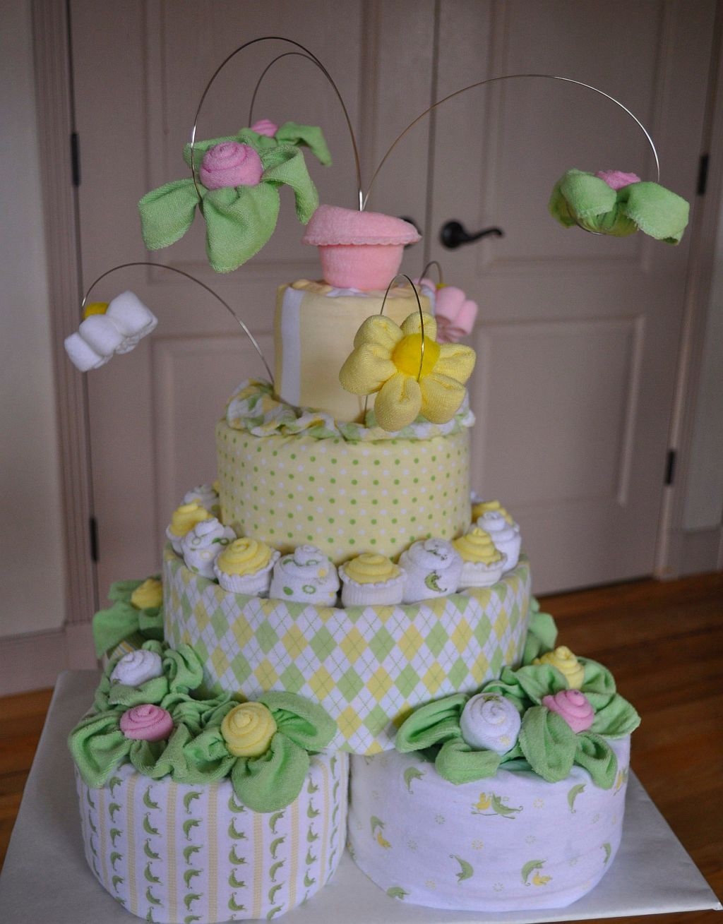 baby shower diaper carriage cake instructions