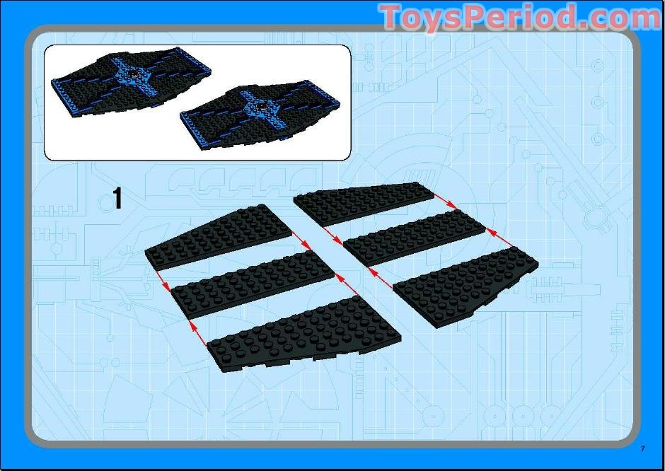 lego blue and black tie fighter instructions