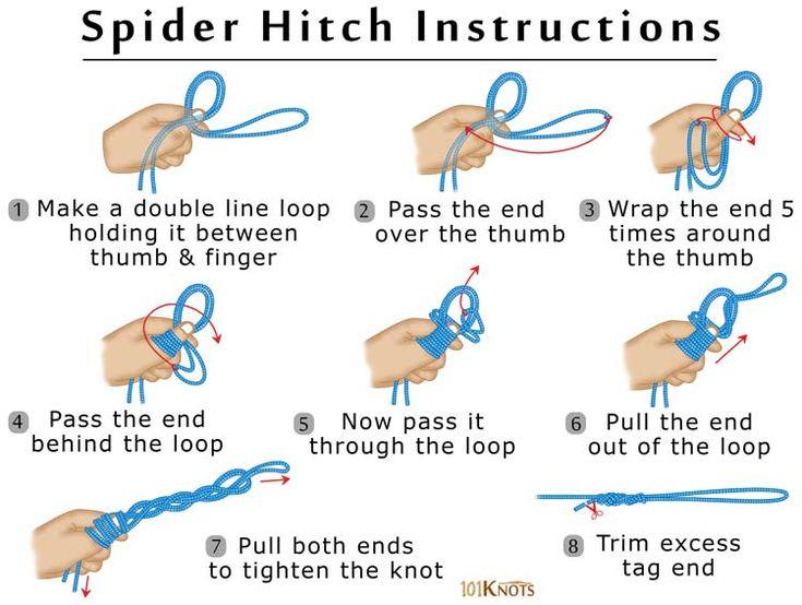 clinch knot written instructions