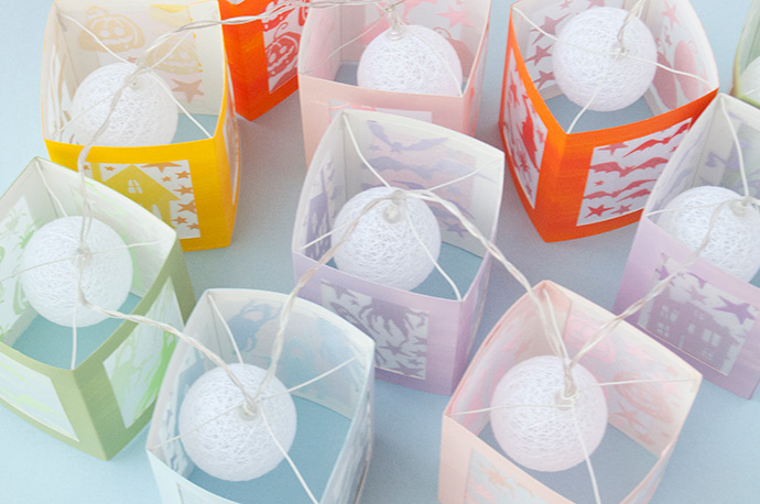tissue paper lanterns instructions