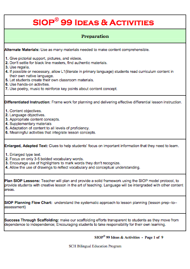 differentiated instruction lesson plans for ell students