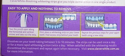dissolving tooth whitening strips instructions