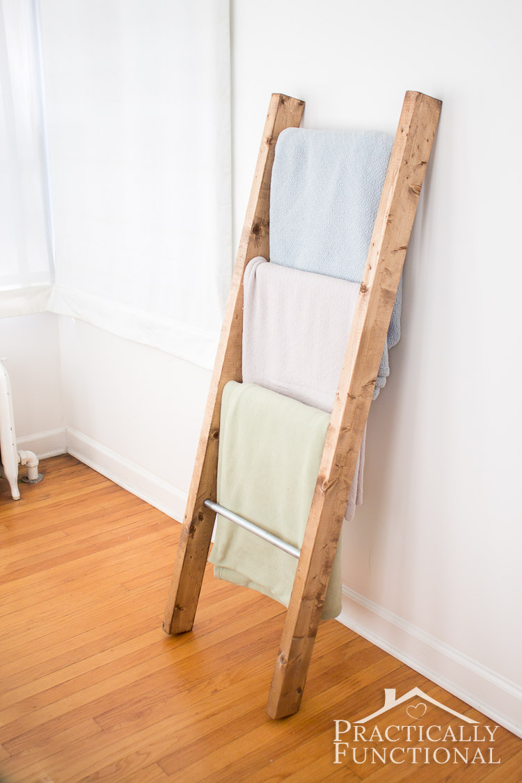 diy blanket ladder instructions