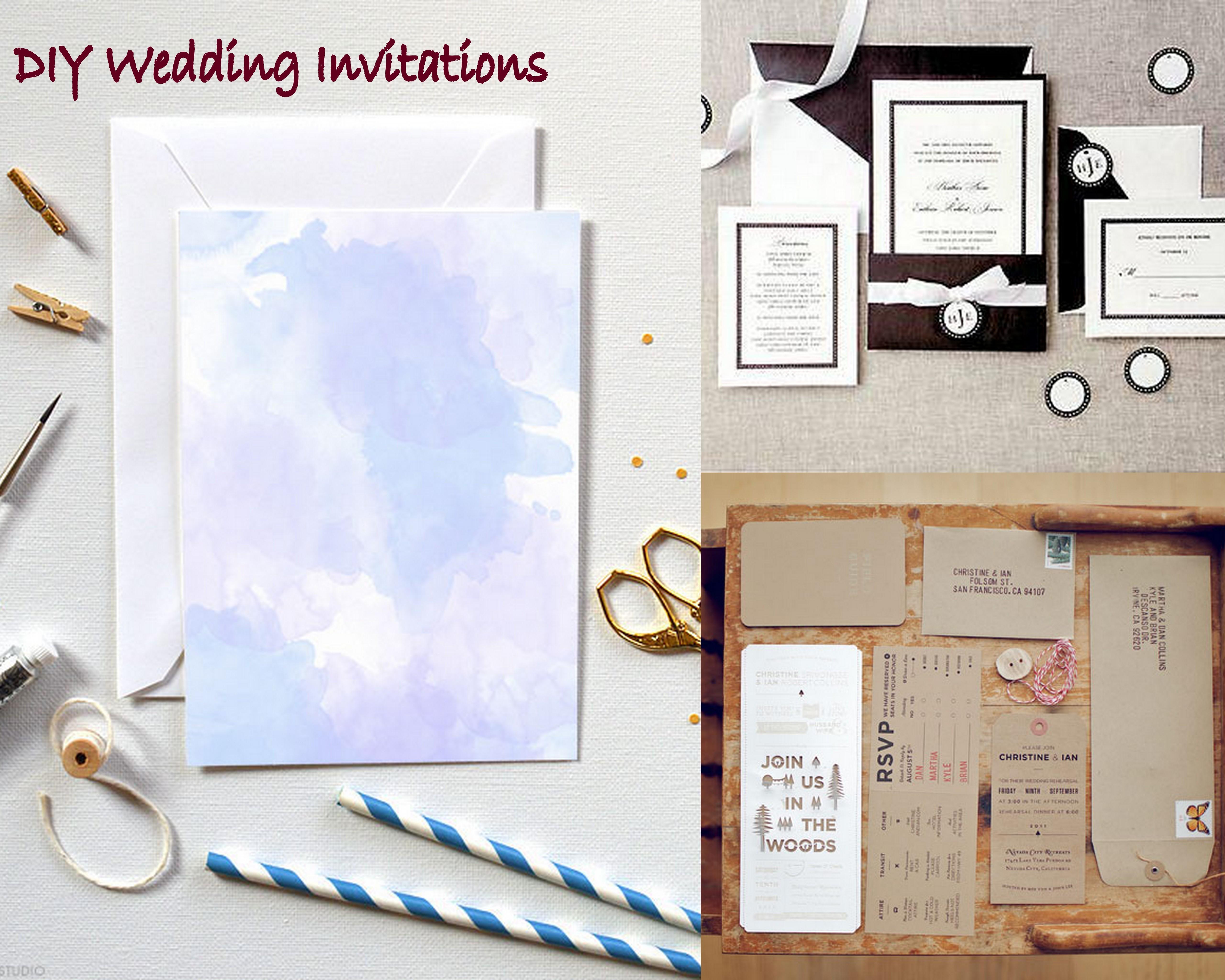 do it yourself wedding invitation instructions