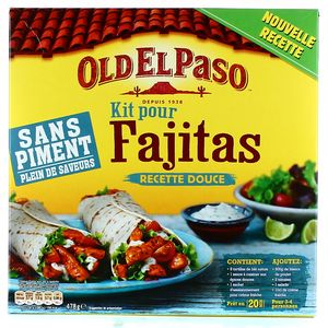 old el paso fajitas kit instructions
