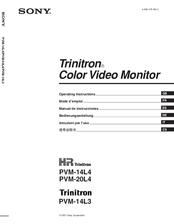 sony trinitron kv1972r instruction manual
