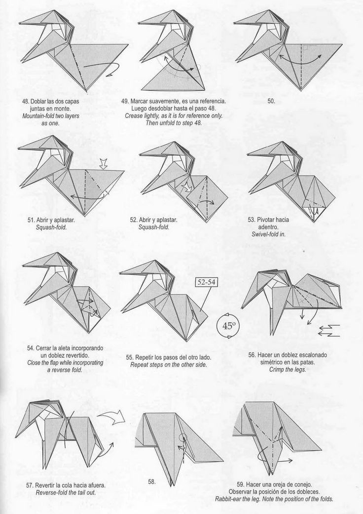 easy origami instructions diagram