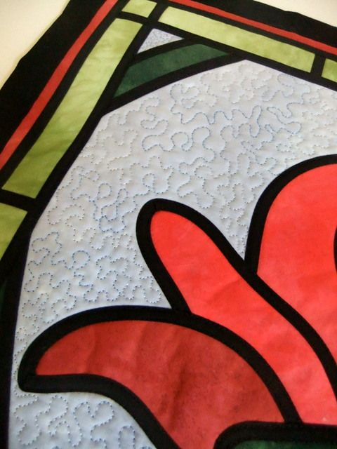 instructions for stained glass applique using bias tape