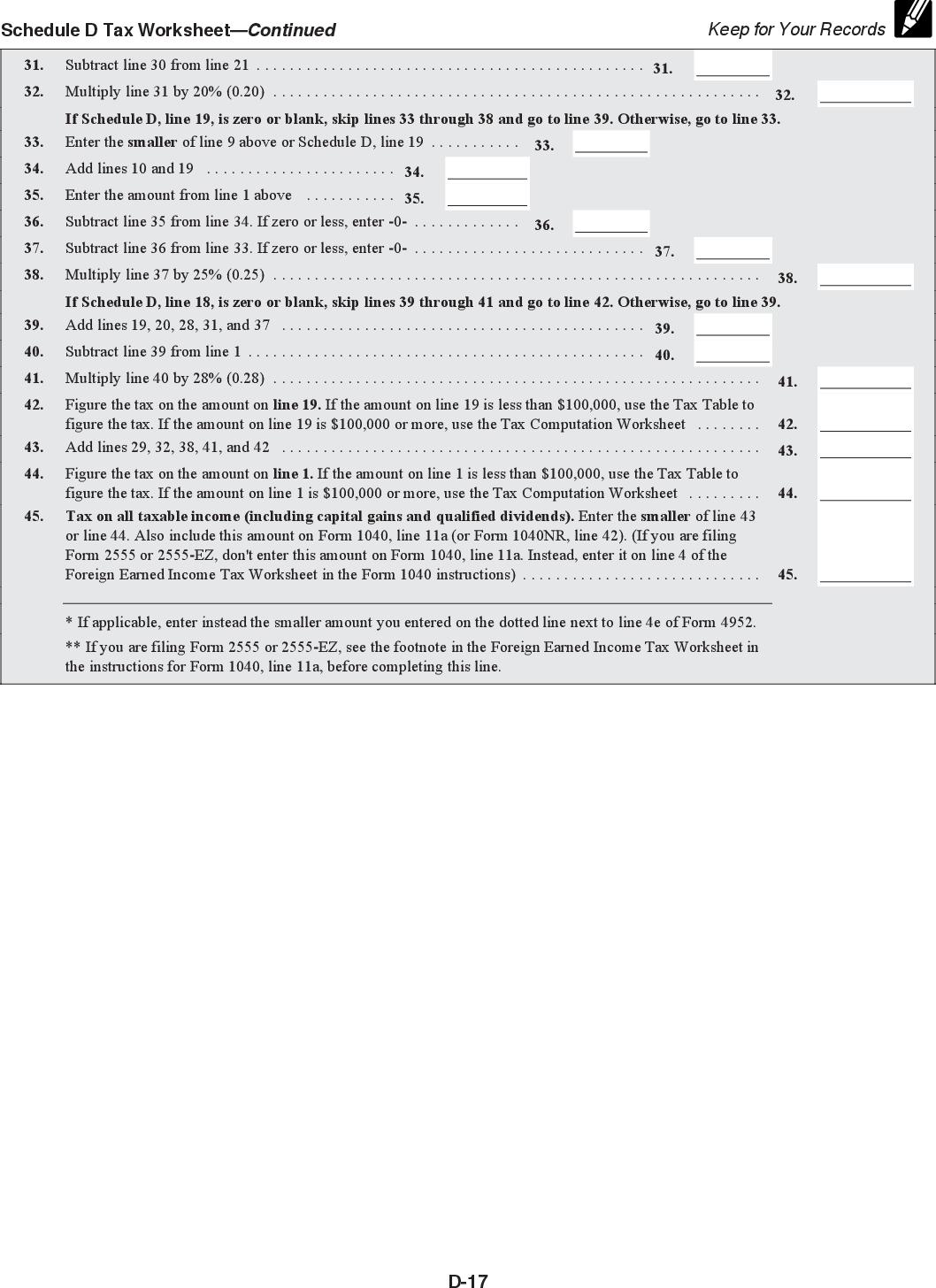 us form 1040 schedule d instructions