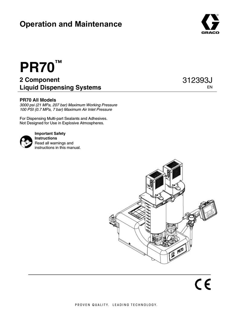 graco pr70 instruction manual