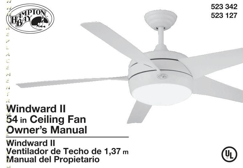 hampton bay thermostatic ceiling fan light remote control instructions