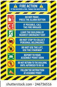 high building fire safety plan emergency telephone instructions