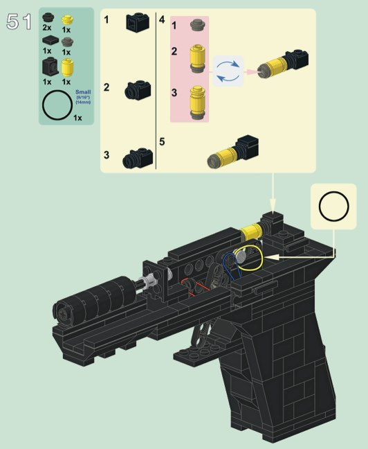 how to make a lego gun that shoots bricks instructions