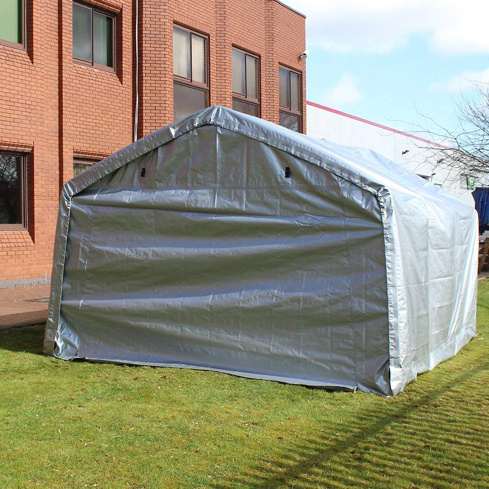 instructions for setting up tented storage shed 10x10x8-ft