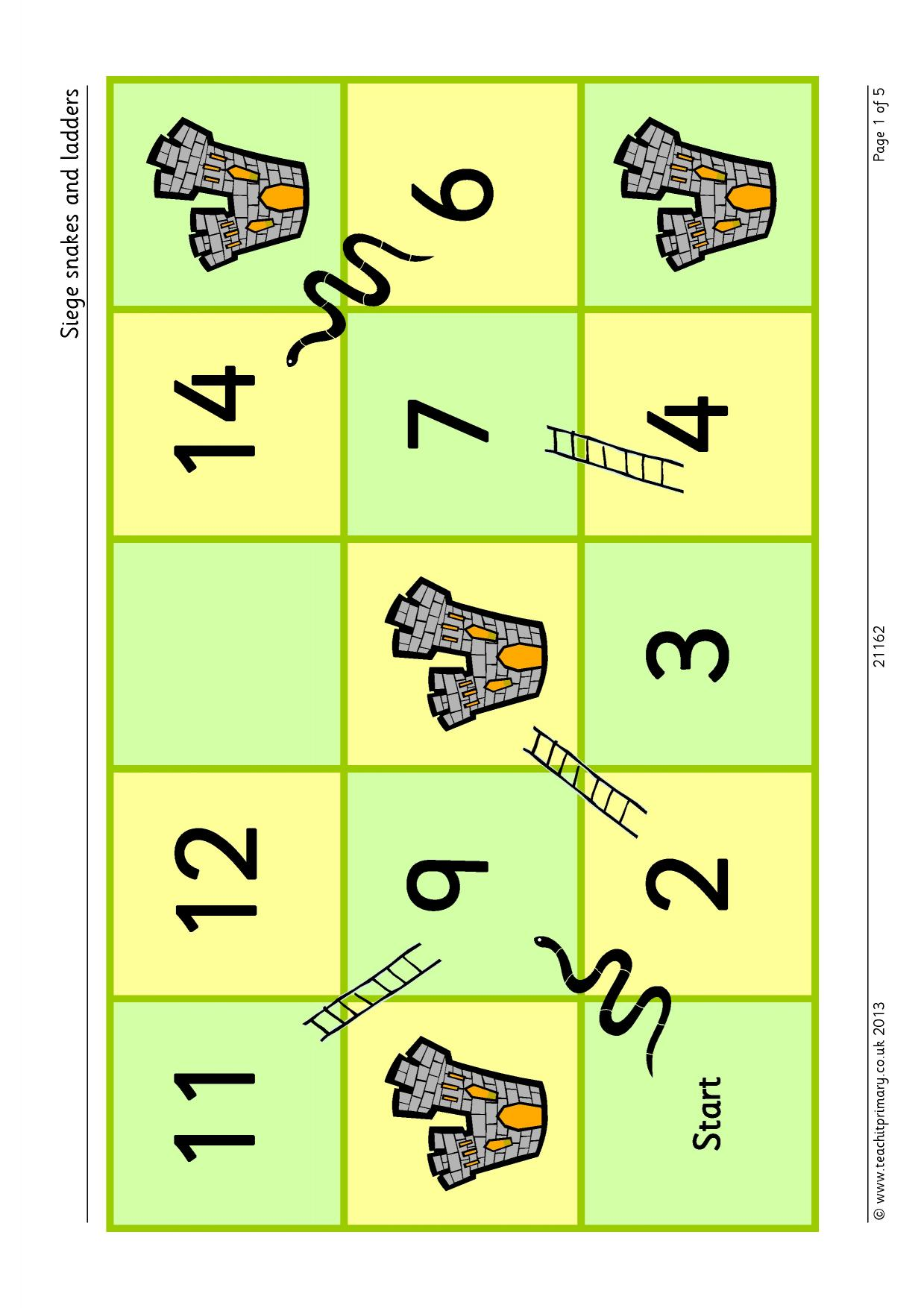instructions for snakes and ladders ks2