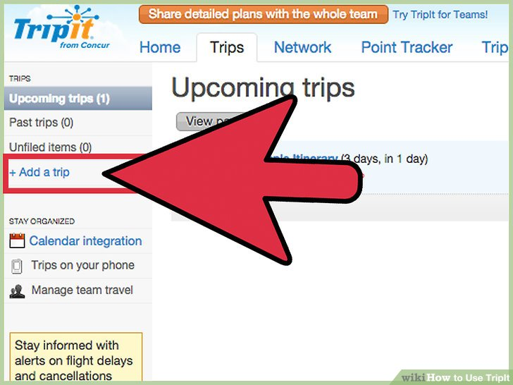 instructions for using tripit